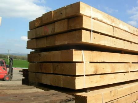 Oak sleepers collected